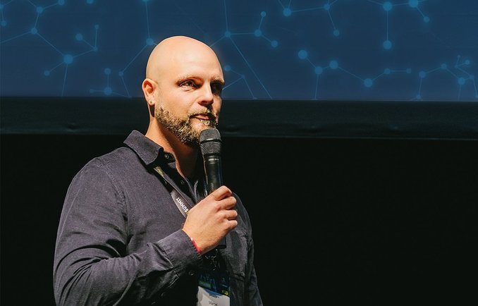 Präsentation während einer Veranstaltung